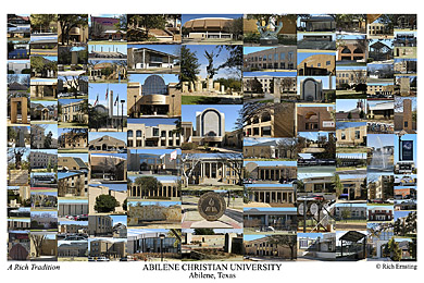 Abilene Christian University Campus Art Print