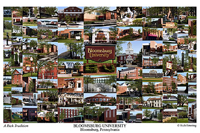 Bloomsburg University Of Pennsylvania Campus Art Prints