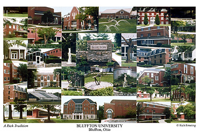 Bluffton University Campus Art Print