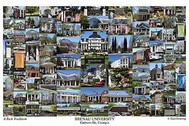 Brenau University Campus Art Print