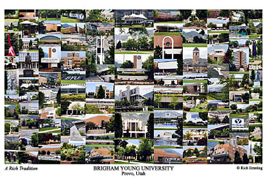 Brigham Young University Campus Art Print