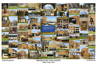 Briar Cliff University Campus Art Print