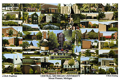 Central Michigan University Campus Art Print