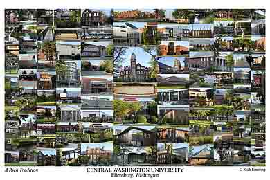 Central Washington University Campus Art Print
