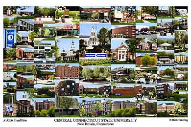 Central Connecticut State University Campus Art Print