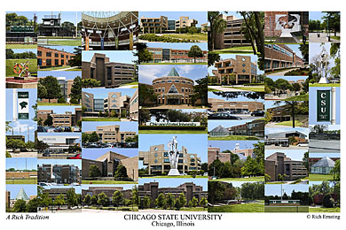 Chicago State University Campus Art Print