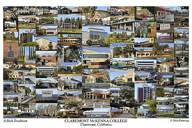 Claremont McKenna College Campus Art Print