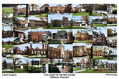 College of Notre Dame of Maryland Campus Art Print