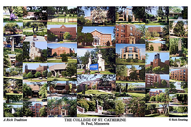 The College of St. Catherine Campus Art Print