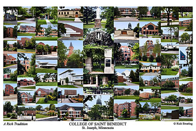 College of Saint Benedict Campus Art Print