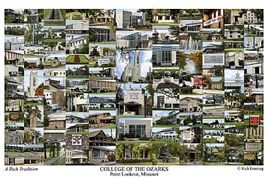 College of the Ozarks Campus Art Print