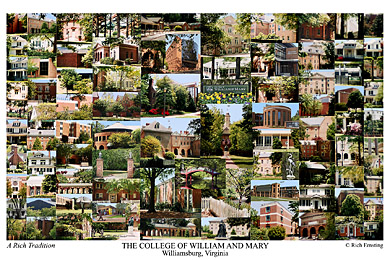 College of William and Mary Campus Art Print