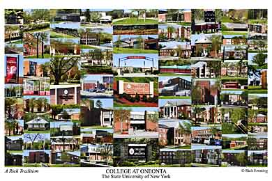 College at Oneonta, SUNY Campus Art Print