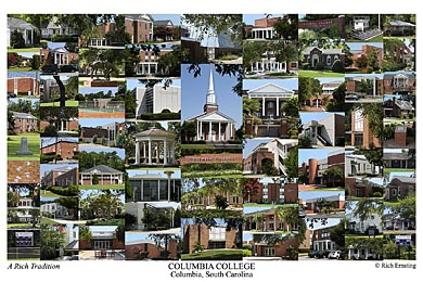 Columbia College (SC) Campus Art Print