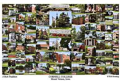 Cornell College Campus Art Print