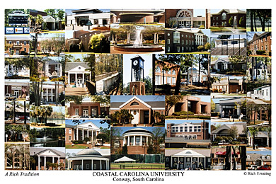 Coastal Carolina University Campus Art Print