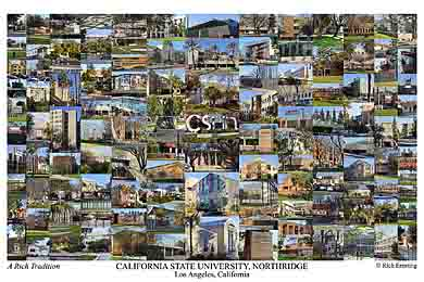 California State University, Northridge Campus Art Print
