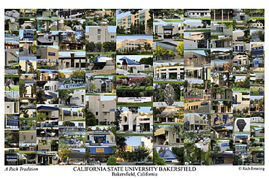 Cal State Bakersfield Campus Art Print