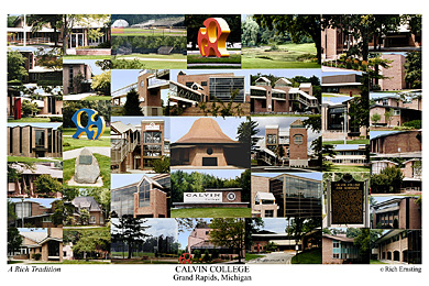 Calvin College Campus Art Print