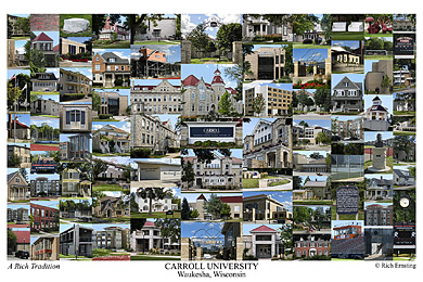 Carroll University Campus Art Print