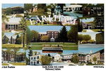 Campus Art Print Watercolor collage with school name in image