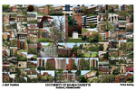 University of Massachusetts Campus Art Print