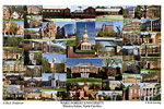 Campus Art Print Photo collage with school name below image**Please note, This is the older print**