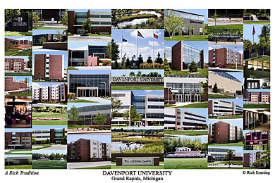 Davenport University Campus Art Print