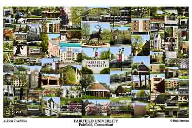 Fairfield University Campus Art Print