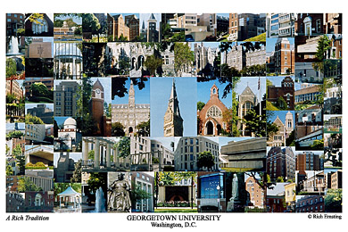 Georgetown University Campus Art Print