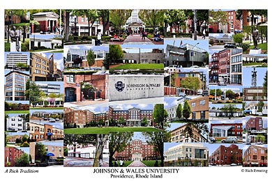 Johnson & Wales University Campus Art Print