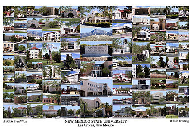 New Mexico State University Campus Art Print