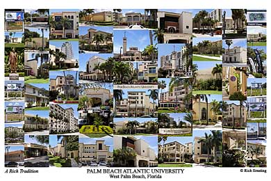 Palm Beach Atlantic University Campus Art Print