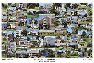 Rogers State University Campus Art Print