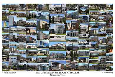 The University of Texas at Dallas Campus Art Print