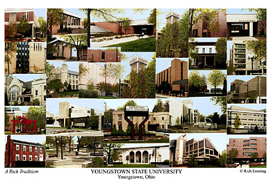 Youngstown State University Campus Art Print