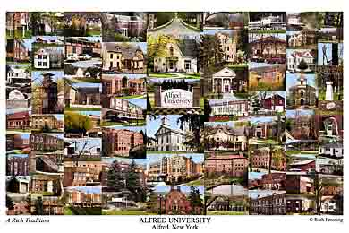 Alfred University Campus Art Print