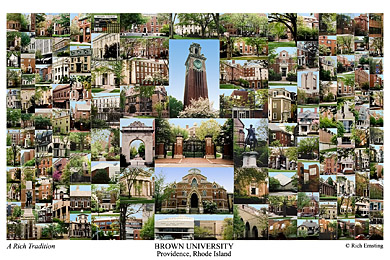 Brown University Campus Art Print