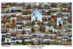 Lynchburg College Campus Art Print