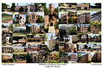 North Central College Campus Art Print