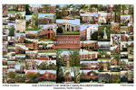 University of North Carolina Greensboro Campus Art Print