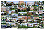 Oakland University Campus Art Print