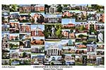 Christopher Newport University Campus Art Print
